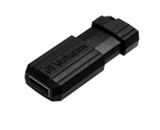 Verbatim 128GB Pinstripe USB Flash Drive - Black,Minimum Qty. 10 -49071