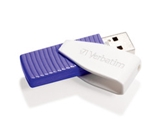 Verbatim 64GB Swivel USB Flash Drive - Violet, Minimum Qty. 10 -49816