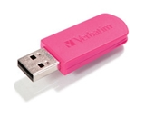 Verbatim 8GB Mini USB Flash Drive - Hot Pink,Minimum Qty. 10 - 49830