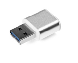 Verbatim 64GB Mini Metal USB 3.0 Flash Drive - Brushed Silver, Minimum Qty. 10 -49841