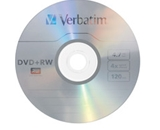 Verbatim DVD+RW 4.7GB 4X with Branded Surface - 1pk Jewel Case,Minimum Qty. 10 - 94520