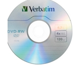 Verbatim DVD-RW 4.7GB 4X with Branded Surface - 1pk Slim Case,Minimum Qty. 10 - 94836