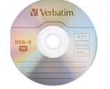 Verbatim DVD+R 4.7GB 16X with Branded Surface - 1pk Jewel Case,Minimum Qty. 50 - 94916