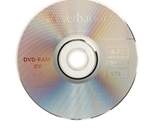 Verbatim DVD-RAM 4.7GB 3X Single Sided, Type 4 with Branded Surface - 1pk with Cartridge,Minimum Qty. 5 - 95002