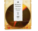 Verbatim DVD-RAM 9.4GB 3X Double Sided, Type 4 with Branded Surface - 1pk with Cartridge,Minimum Qty. 5 - 95003