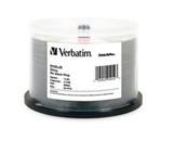 Verbatim DVD+R 4.7GB 8X DataLifePlus Shiny Silver Silk Screen Printable - 50pk Spindle,Minimum Qty. 4 - 95052