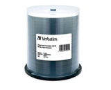 Verbatim CD-R 700MB 52X Silver Inkjet Printable - 100pk Spindle,Minimum Qty. 4 - 95256