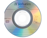 Verbatim Mini DVD+R DL 2.6GB 2.4X Branded 3pk Jewel Case,Minimum Qty. 6 - 95313