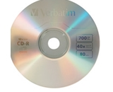 Verbatim Music CD-R 80min 40x with Branded Surface - 25pk Spindle,Minimum Qty. 6 - 96155