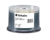 Verbatim CD-R 700MB 52X UltraLife Gold Archival Grade with Branded Surface and Hard Coat - 50pk Spindle,Minimum Qty. 4 - 96159