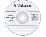 Verbatim BD-R LTH Type 25GB 6X with Branded Surface - 20pk Spindle,Minimum Qty. 6 - 97344
