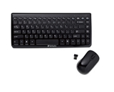 Verbatim Wireless Mini Slim Keyboard and Optical Mouse - Black,Minimum Qty. 6 - 97472