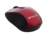 Verbatim Wireless Mini Travel Optical Mouse - Red,Minimum Qty. 6 - 97540