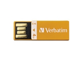 Verbatim 4GB Clip-It USB Flash Drive - Orange,Minimum Qty. 4 - 97551