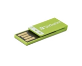 Verbatim 4GB Clip-It USB Flash Drive - Green,Minimum Qty. 4 - 97556