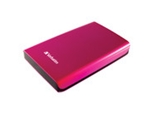 Verbatim 500GB Store -n- Go Portable Hard Drive, USB 3.0 - Pink,Minimum Qty. 2 - 97656