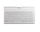 Verbatim Ultra-Slim Bluetooth Wireless Mobile Keyboard - White,Minimum Qty. 6 - 97754