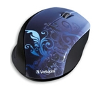 Verbatim Wireless Notebook Optical Mouse, Design Series - Blue,Minimum Qty. 4 - 97785