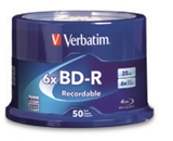Verbatim BD-R 25GB 6X with Branded Surface - 50pk Spindle,Minimum Qty. 4 - 98397