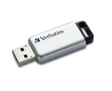 Verbatim 32GB Store-n- Go Secure Pro USB 3.0 Flash Drive with AES 256 Hardware Encryption - Silver,Minimum Qty. 4 - 98665