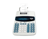 Victor 1220-4 Desktop Printing Calculator - 12 Character(s) - Fluorescent - AC Supply, Power Adapter Powered - 8- x 11- x 2.5-