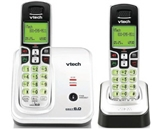 VTech CS6219-2 DECT 6.0 Cordless Phone, Silver/Black,  2 Handsets [CD-ROM]