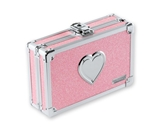 Pencil Box Pink Bling w/Heart - Pink Bling - Vaultz - VZ00130
