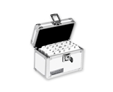 Locking 3x5 Card File Box, White - White - Vaultz - VZ00174