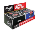 Vaultz Locking VZ01214 Pencil Box Steel - Black, Blue