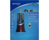 Westcott iPoint Electric Pencil Sharpener Titanium Bonded - Black Cherry
