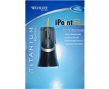 Westcott Titanium iPoint Pencil Sharpener, Electric, Auto Sensor Shut Off (14875)- Black