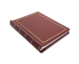 Wilson Jones 0396-11 Looseleaf Minute Book, Red Leather-Like Cover, 125 Pages, 8 1/2 x 11 Inches