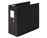 Wilson Jones 384 Line Heavy-Duty Locking D-Ring Binder 5- 8.5 x 11- Sheet Capacity - Black (W384-50BPP)