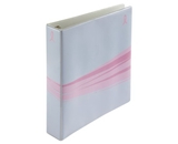 Wilson Jones Think Pink Wave Binder, 1.5 Inch Rings, Letter Size, Light Blue (W61013)