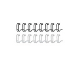 Wire Bindings, 1/2- Diameter, 100 Sheet Capacity, Black, 25/Pack