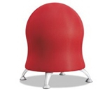 Zenergy Ball Chair, 22 1/2-, Crimson/Silver