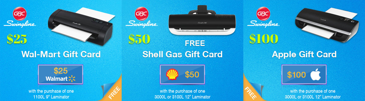 Free Gift Card on Purchase of GBC Laminator