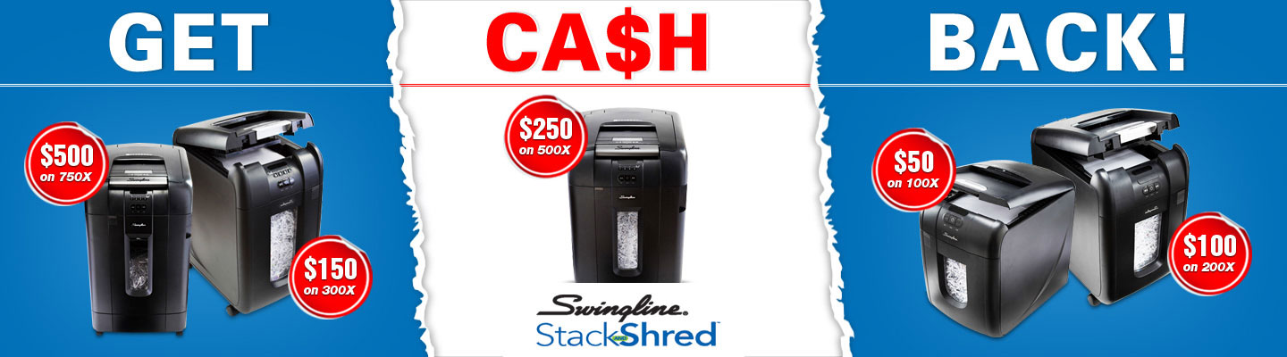 Get Cash Back on Selected Swingline Products