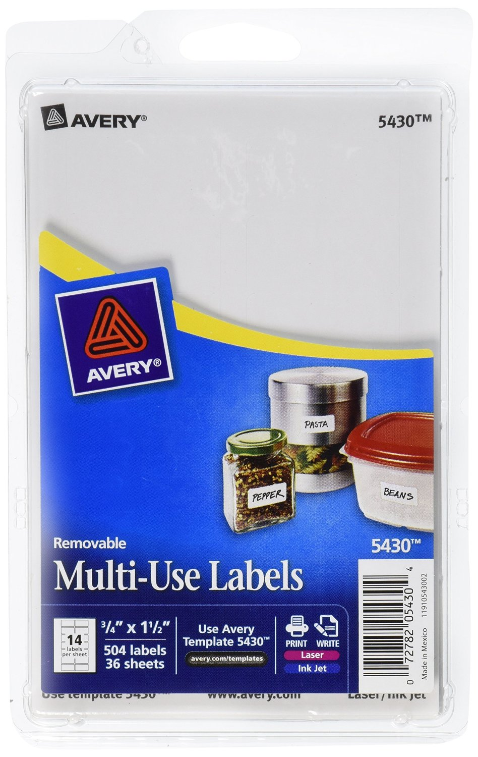 It is a photo of Challenger Avery 3.5 Inch Round Labels