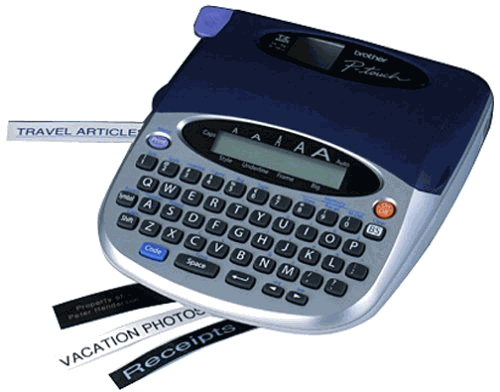 brother p touch label maker pt 1750 label maker w label cartridge 28719